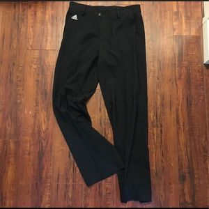 Men adidas black golf pants size 32x32 ALL NEW